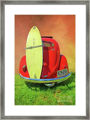 1957 Beetle Oval Framed Print