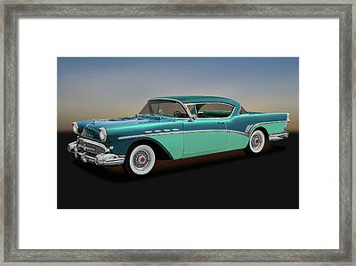 Framed Print featuring the photograph 1957 Buick Super Riviera 2 Door Hardtop  -  1957buicksuperriviera170431 by Frank J Benz