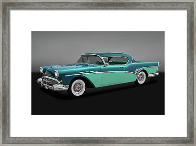 Framed Print featuring the photograph 1957 Buick Super Riviera 2 Door Hardtop  -  1957buicksuperrivieragry170431 by Frank J Benz