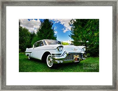 Framed Print featuring the photograph 1957 Cadillac by Mark Miller