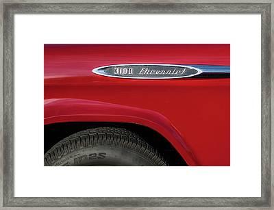 1957 Chevrolet 3100 Truck Emblem -0079c Framed Print