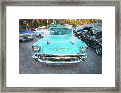 1957 Chevrolet Bel Air 283  Framed Print by Rich Franco