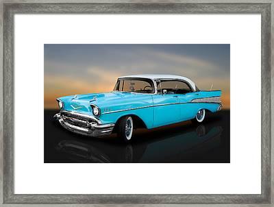 1957 Chevrolet Bel Air 4 Door Hardtop Framed Print