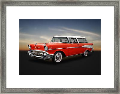 1957 Chevrolet Bel Air Nomad Wagon Framed Print by Frank J Benz