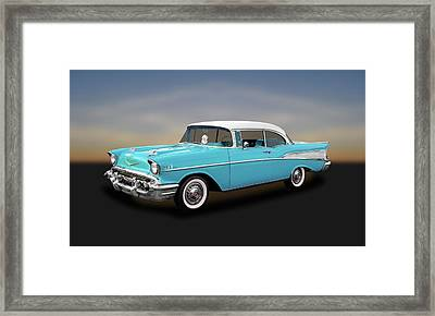 1957 Chevrolet Bel Air Sport Coupe   -   57chspcp260 Framed Print by Frank J Benz