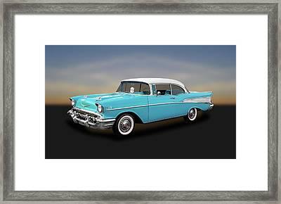 1957 Chevrolet Bel Air Sport Coupe   -   57chspcp260 Framed Print