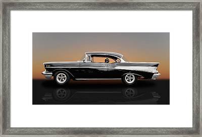 1957 Chevrolet Bel Air Sport Coupe - V1 Framed Print by Frank J Benz