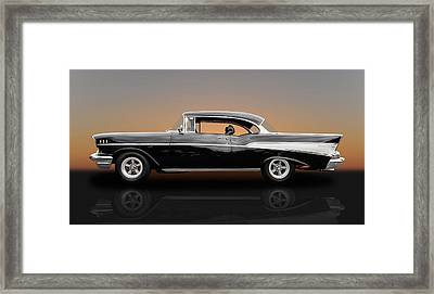 1957 Chevrolet Bel Air Sport Coupe - V1 Framed Print