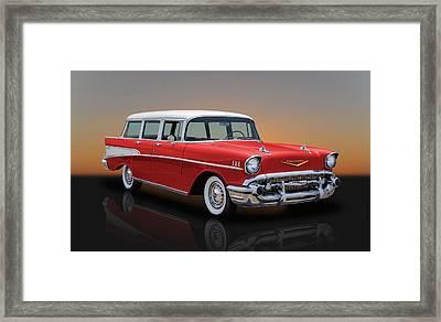 1957 Chevrolet Bel Air Townsman Station Wagon Framed Print by Frank J Benz