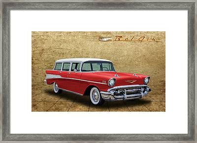 1957 Chevrolet Bel Air Townsman Wagon Framed Print by Frank J Benz