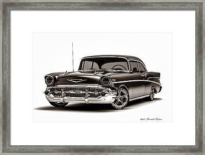1957 Chevrolet Belair Framed Print