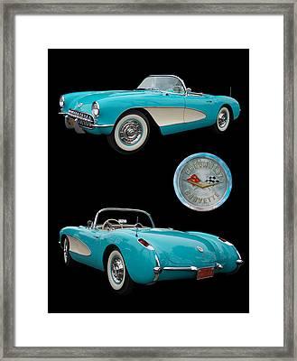 1957 Chevrolet Corvette Framed Print