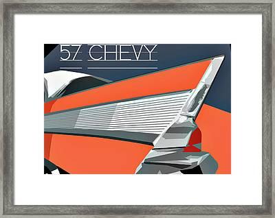 1957 Chevy Art Design By John Foster Dyess Framed Print