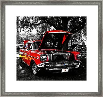 1957 Chevy Bel Air Framed Print by Chris Berry