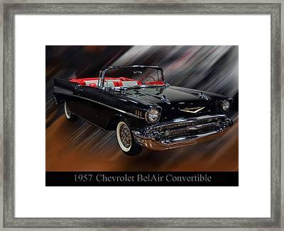1957 Chevy Bel Air Convertible Framed Print by Chris Flees
