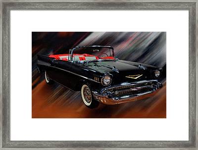 1957 Chevy Bel Air Convertible Digital Oil Framed Print