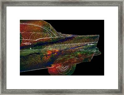 1957 Chevy Bel Air Fin Tie Dye Art Framed Print