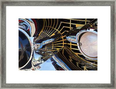 1957 Chevy Bel Air Grill Abstract 1 Framed Print