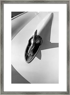 1957 Chevy Bel Air Hood Rocket Framed Print