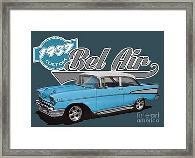 1957 Chevy Bel Air Framed Print by Paul Kuras