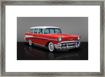 1957 Chevy Bel Air Townsman Wagon Framed Print by Frank J Benz