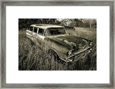 1957 Chevy Wagon Framed Print by Chris Harris