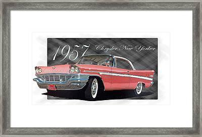 1957 Chrysler New Yorker Framed Print