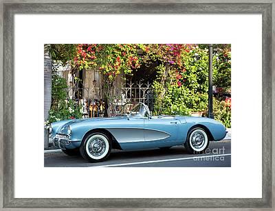 Framed Print featuring the photograph 1957 Corvette by Brian Jannsen