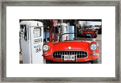 1957 Corvette Hackberry Arizona 2 Framed Print by Bob Christopher