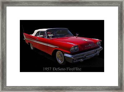 1957 Desoto Fireflite Convertible Framed Print by Chris Flees