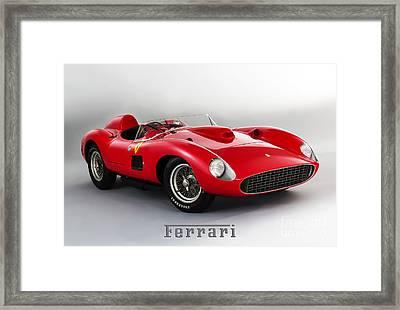 1957 Ferrari 335 S Spider Scaglietti. Framed Print by Mohamed Elkhamisy