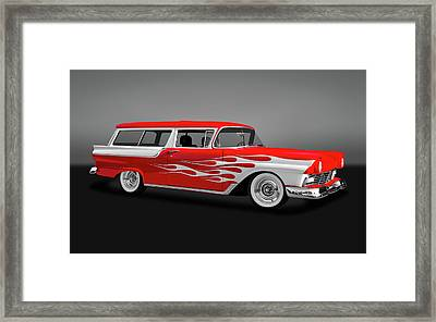 1957 Ford 2 Door Ranch Wagon  -  1957fdrchwaggry0064 Framed Print