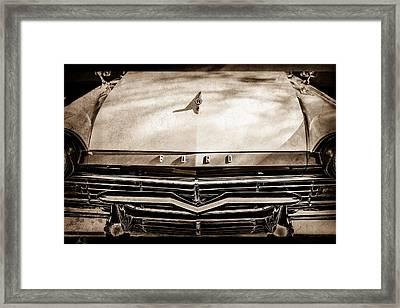 1957 Ford Custom 300 Series Ranchero Grille Emblem -0465s Framed Print by Jill Reger