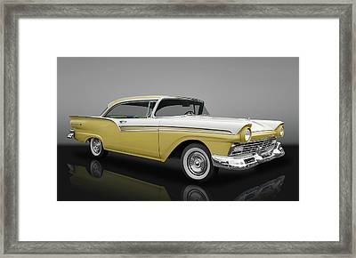 1957 Ford Fairlane 500  -  57fordfairlanegry153346 Framed Print