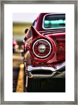 1957 Ford Thunderbird Red Convertible Framed Print by Gordon Dean II