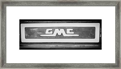 1957 Gmc Pickup Truck Tail Gate Emblem -0272bw2 Framed Print by Jill Reger