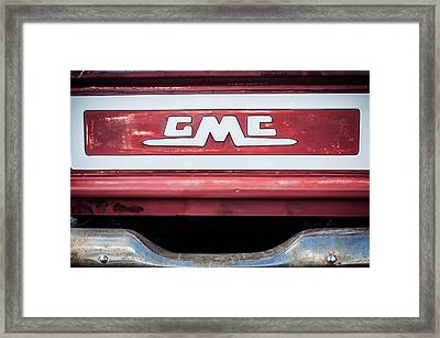 1957 Gmc Pickup Truck Tail Gate Emblem -0272c1 Framed Print by Jill Reger
