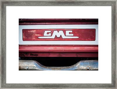 1957 Gmc Pickup Truck Tail Gate Emblem -0272c1 Framed Print by Jill Reger
