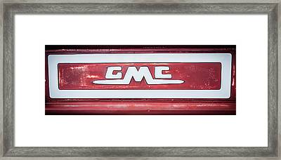 1957 Gmc Pickup Truck Tail Gate Emblem -0272c2 Framed Print by Jill Reger