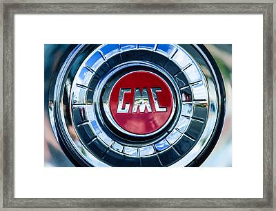 1957 Gmc Pickup Truck Wheel Emblem -0272c Framed Print by Jill Reger