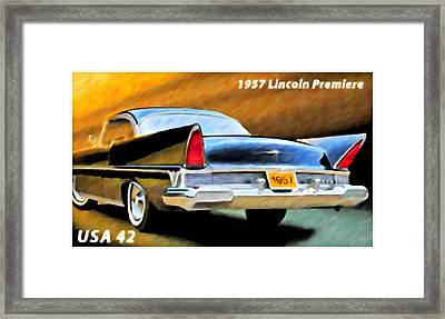 1957 Lincoln Premiere Framed Print by Lanjee Chee
