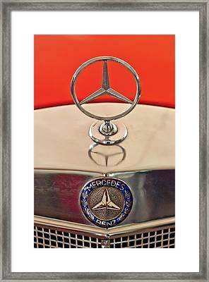 1957 Mercedes-benz 220 S Hood Ornament Framed Print