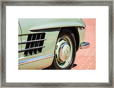1957 Mercedes-benz 300 Sl Roadster Wheel Emblem -0121c Framed Print