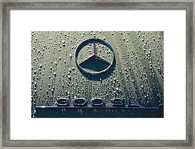 1957 Mercedes Benz 300sl Roadster Emblem Framed Print by Jill Reger
