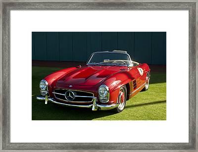 1957 Mercedes Benz 300sl Roadster Framed Print by Jill Reger