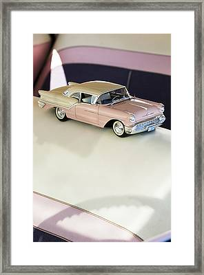 1957 Oldsmobile Super 88 Matchbox Car Framed Print by Jill Reger