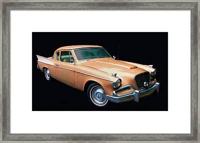 1957 Studebaker Golden Hawk Digital Oil Framed Print