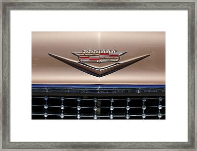 1958 Cadillac Eldorado Barritz Emblem Framed Print by Jill Reger