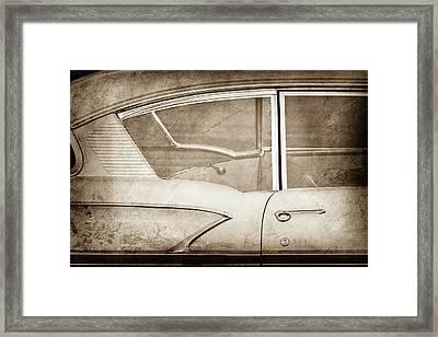 1958 Chevrolet Belair -0829s Framed Print
