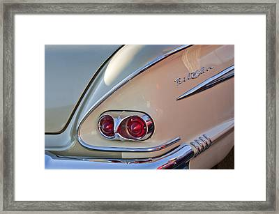 1958 Chevrolet Belair Taillight Framed Print